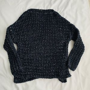 Zara || Navy Cable Knit Sweater